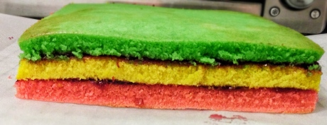 Rainbow cookie insides